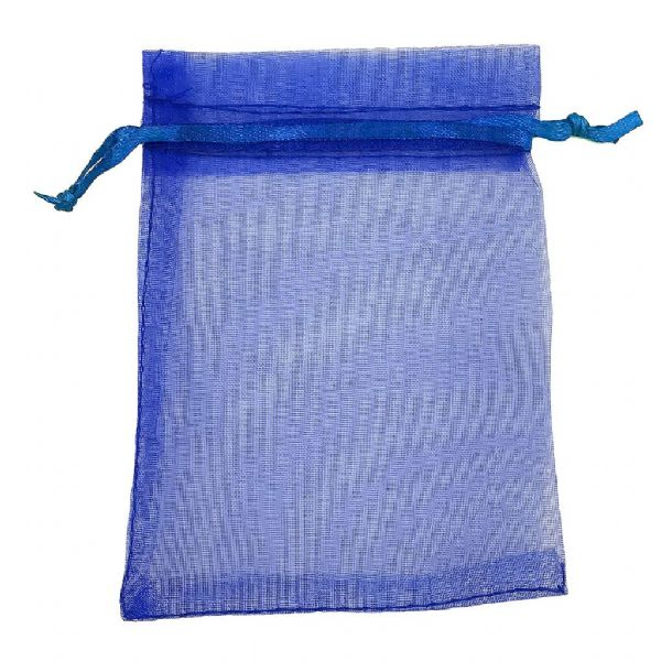 10pcs Royal Blue Organza Bag 7 cm x 9xm